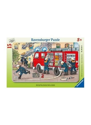 Ravensburger Ravensburger 15 Parçalı Puzzle Fireman Pembe